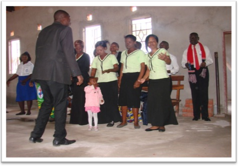 Fountain of Praise Team singing Joyful songs and dancing for Jubilee cerebrations.